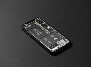 Mobile Phone battery exposed